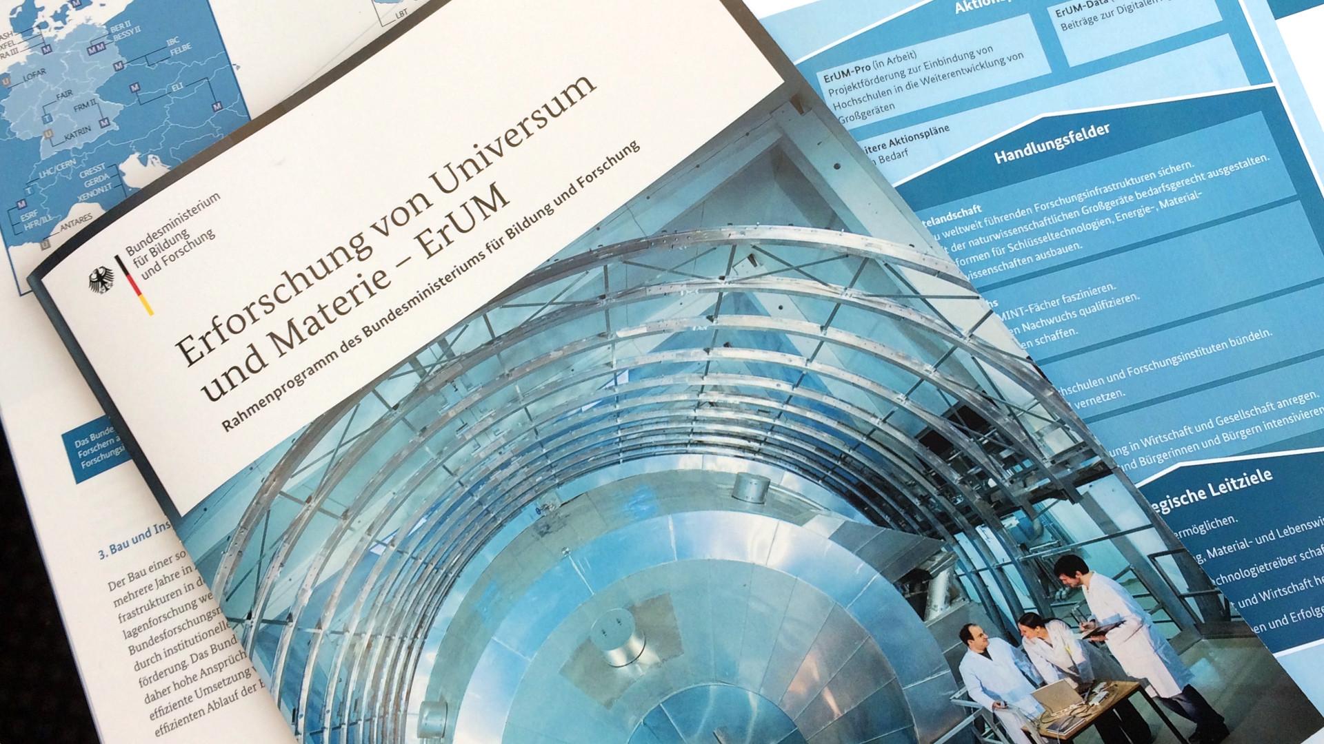"""Rahmenprogramm """"Erforschung von Universum und Materie"""""""