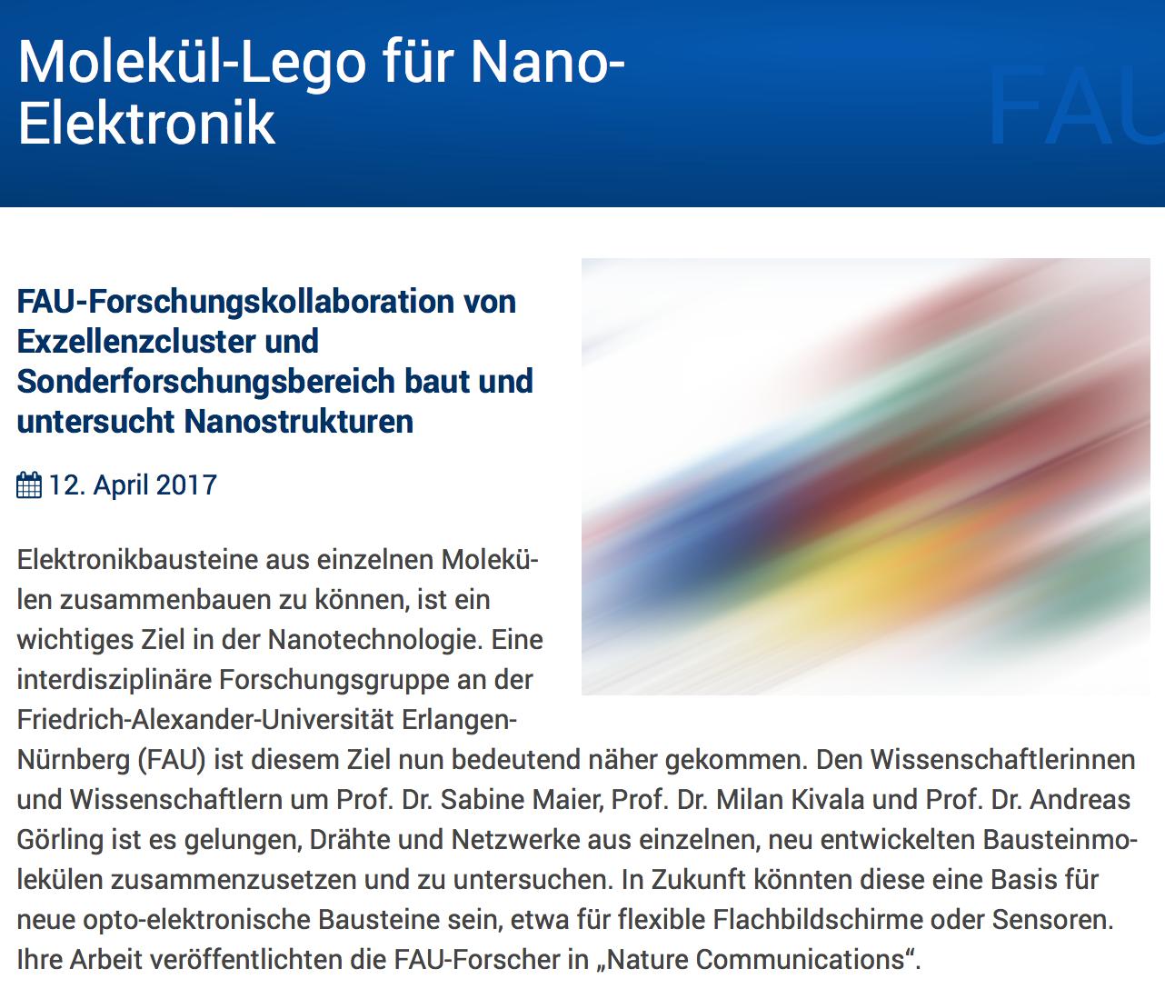 Molekül-Lego für Nano-Elektronik